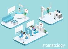 tand- klinik plan inre av kontoret för tandläkare` s royaltyfri illustrationer