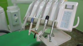 tand- kontor Arbetsplatsen för tandläkare` s lager videofilmer