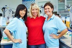 tand- laboratorium för samarbete royaltyfri bild