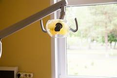 Tand- lampa i ett tand- kontor Royaltyfri Fotografi