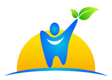tand- logo stock illustrationer
