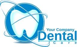 tand- logo för omsorg Royaltyfria Foton