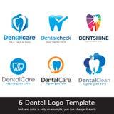 Tand- Logo Template Design Vector Royaltyfri Bild