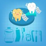 Tand med hälsoproblem Arkivbild