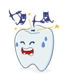 Tand med hålet och bakterier Arkivbild