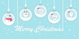 Tand med jul Arkivbild