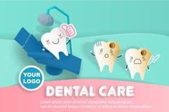 Tand med tandvård Royaltyfria Bilder