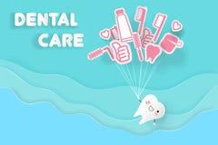 Tand med tandvård Arkivfoton