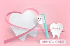 Tand med tandvård Fotografering för Bildbyråer