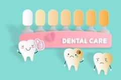 Tand med tandvårdbegrepp Arkivbilder
