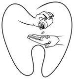 tand- medicin vektor illustrationer