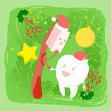 Tand met Kerstmis stock illustratie