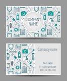 Tand modern adreskaartje Royalty-vrije Stock Afbeeldingen