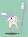 Tand- och borstegoda stock illustrationer
