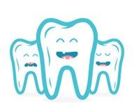 Tand- samling med tandtecken Arkivfoton