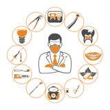 Tand- service och stomatologyinfographics Royaltyfri Fotografi