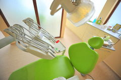 Tand stoel (artsenbureau) Stock Afbeeldingen