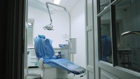 Tand- stol i det tand- kontoret Arkivbild