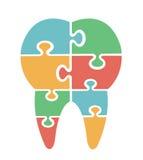 Tand- symbol för modern figursåg Arkivfoto