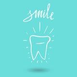 tand Symbolskontur Hälsa, läkarundersökning eller doktor och tandläkarekontorssymboler Muntlig omsorg som är tand-, tandläkarekon Royaltyfri Fotografi
