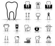 Tand & Tandheelkunde - Iconset - Pictogrammen royalty-vrije illustratie