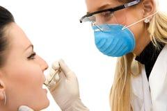 tand- undersökning Arkivbild