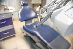 Tand- utrustning med stol Fotografering för Bildbyråer