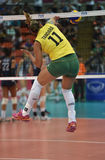 Tandara Caixeta of Brazil. Bangkok, Thailand - August 15 Tandara Caixeta of Brazil in action during the Volleyball World Grand Prix 2014 at Indoor Stadium Stock Photography