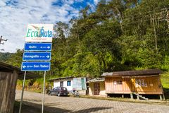 Tandayapa, Ecuador. October 29, 2017: Village in the ecorruta `Paseo del Quinde` within the cloud forest, a natural sanctuary to the northwest of Quito Stock Photos