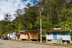 Tandayapa, Ecuador. October 29, 2017: Village in the ecorruta `Paseo del Quinde` within the cloud forest, a natural sanctuary to the northwest of Quito Royalty Free Stock Photos