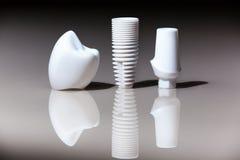Tandbehandeling, gebitten, Tandimplant tandarts Royalty-vrije Stock Foto's