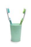 tandborstar två Arkivfoton