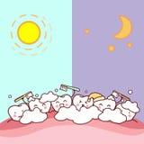 Tandborste dygnet runt vektor illustrationer
