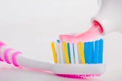 Tandborste med tanddeg Royaltyfri Fotografi