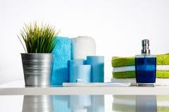 Tandborste med tandkräm i ljusa SPA Fotografering för Bildbyråer