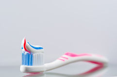 tandborstetoothpaste Arkivfoton
