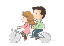 Tandem bicycle Stock Image