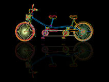 Tandem bicycle Stock Photography