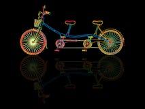 Tandem bicycle stock illustration