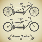 Tandem bicycle Stock Images