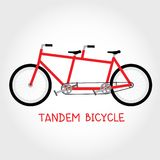 Tandem bicycle isolated vector Stock Photos