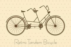 Tandem Bicycle Vintage Card Stock Image