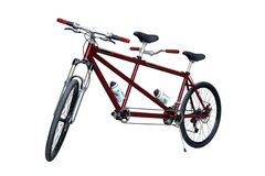 Tandem bike. On white background Royalty Free Stock Image