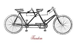 Tandem, vintage illustration Royalty Free Stock Photography