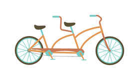 Tandem bike vector illustration. Royalty Free Stock Image