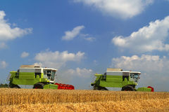 Tandem Combine Harvesters Stock Images