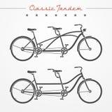 Tandem cykel Arkivbild