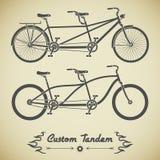 Tandem cykel Arkivbilder