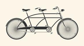 Tandem cykel för tappning Arkivfoto