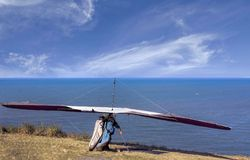 Tandem hang gliding. Rex Point Lookout Cairns Royalty Free Stock Photo